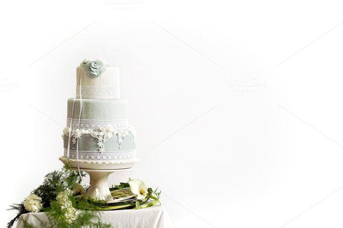 Styled Wedding Cake - Marzipan by JustLikeMyDesktop on Creative Market