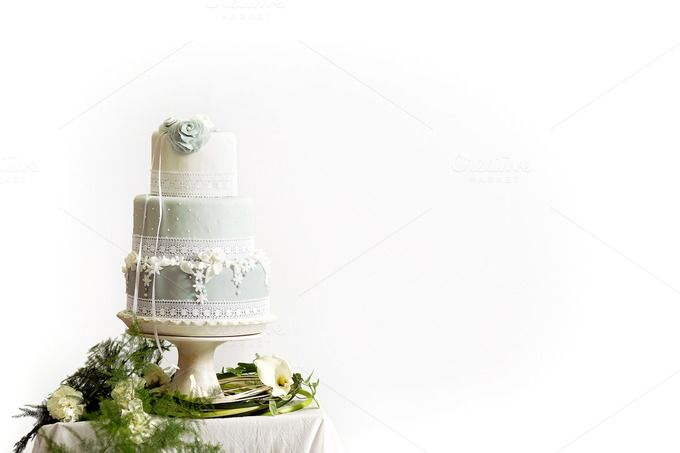 Styled Wedding Cake - Marzipan by JustLikeMyDesktop on Creative Market