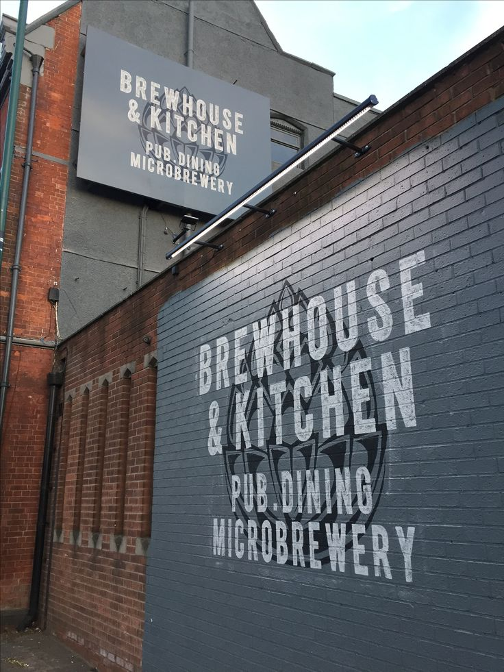 Sign painting for Brewhouse & Kitchen