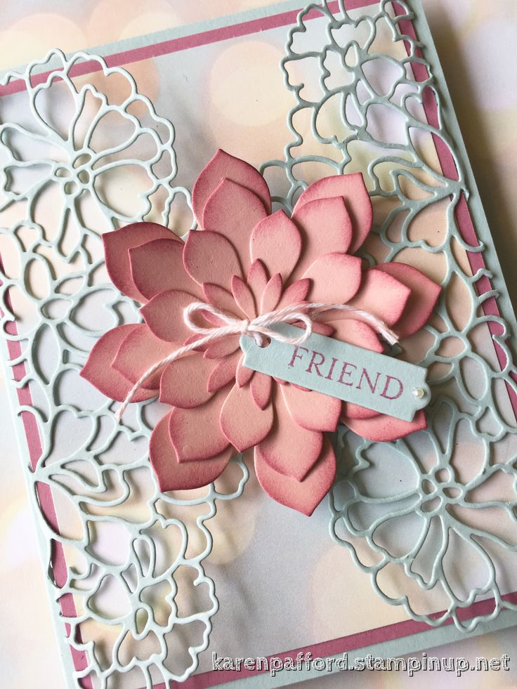 SU: So Detailed Thinlets Dies, Succulent framelits, Happy Birthday Wishes and Falling In Love dsp (Occ 2017).  #kmpstampstudio.  (Pin#1: Background: Dies.  Pin+: Flowers: SU-3D/ Dies...).
