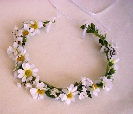 daisy chain headband | Hippie hair wreath Bridal daisy Head Wreath daisy chain flower crown
