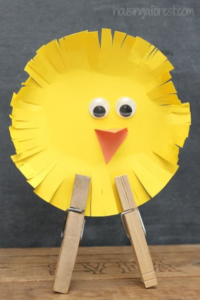 Easter Crafts for Kids.....Could do this with a paper plate too.