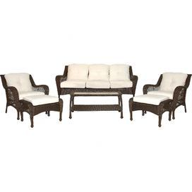 6-Piece Aurelia Patio Seating Group Set in Tan