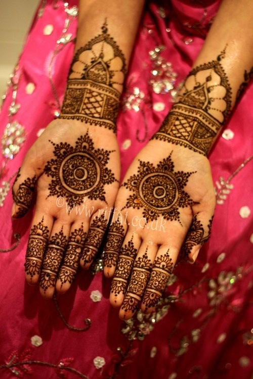 Bridal Mehndi maybe this on the inside and more detailed on the outside