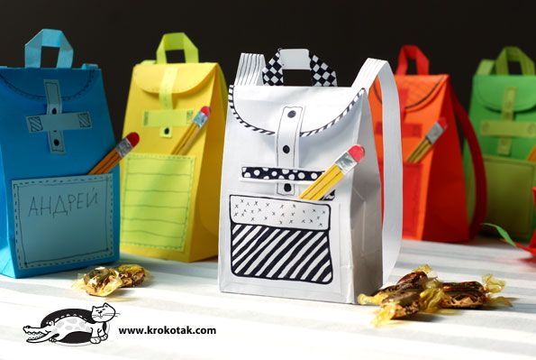 Paper rucksack for sweets
