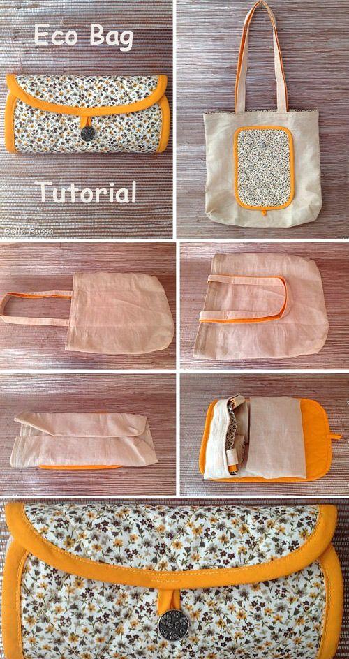 Nähen Sie Eco-Bag Transformer ~ So nähen Sie für Anfänger. Ideen zum Nähen. Schritt für Schritt i …   – Free Bag Sewing Patterns & Tutorials