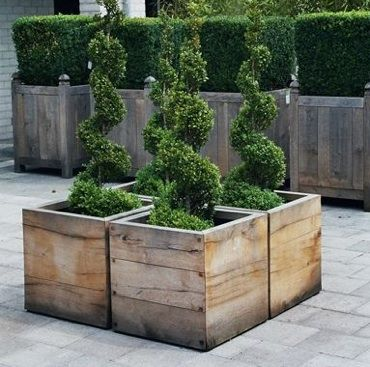 worldu0027s most beautiful garden planters by way of belgium - Wooden Planter Boxes