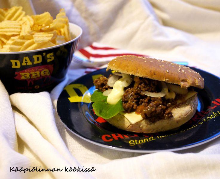 Kääpiölinnan köökissä: Hey Joe - Sloppy Joe! - herkulliset Sloppy Joe-burgerit