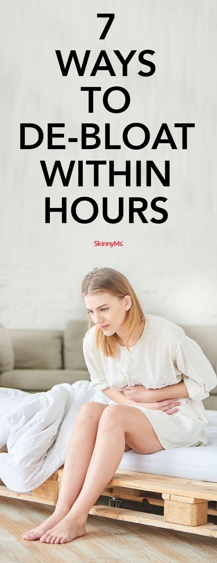 7 Ways to De-Bloat within Hours #feelbetter #skinnyms