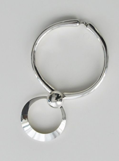 Kaija Aarikka for Aarikka Studio (FI), rare vintage sterling silver necklace, 1972. #finland   finlandjewelry.com #forsale