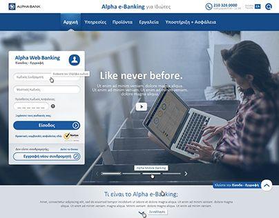 "Check out new work on my @Behance portfolio: ""Alpha Bank : Alpha e-Banking prelogin website designs"" http://on.be.net/1frersg"