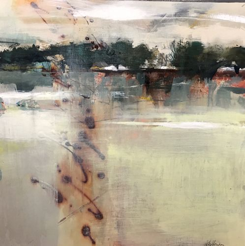 """Joan Fullerton Paintings: Contemporary Abstract Landscape Painting """"Mystical Reflections"""" by Intuitive Artist Joan Fullerton"""