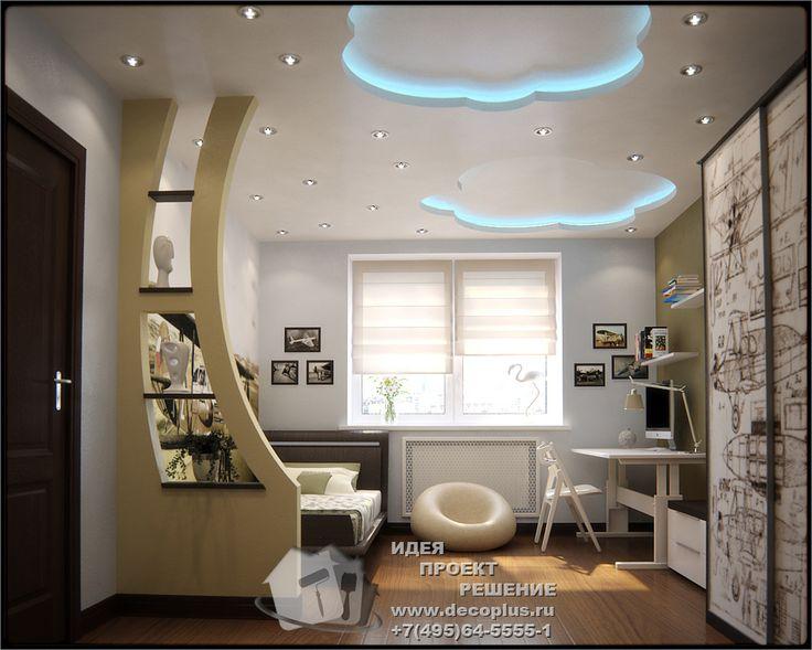 Дизайн интерьера детской для мальчика - http://www.decoplus.ru/design-detskoy-komnaty-dlya-malchika