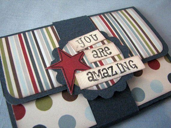 Gift card holder, paper gift card holder, all occasion gift card holder, Money holder card, handmade gift card holder