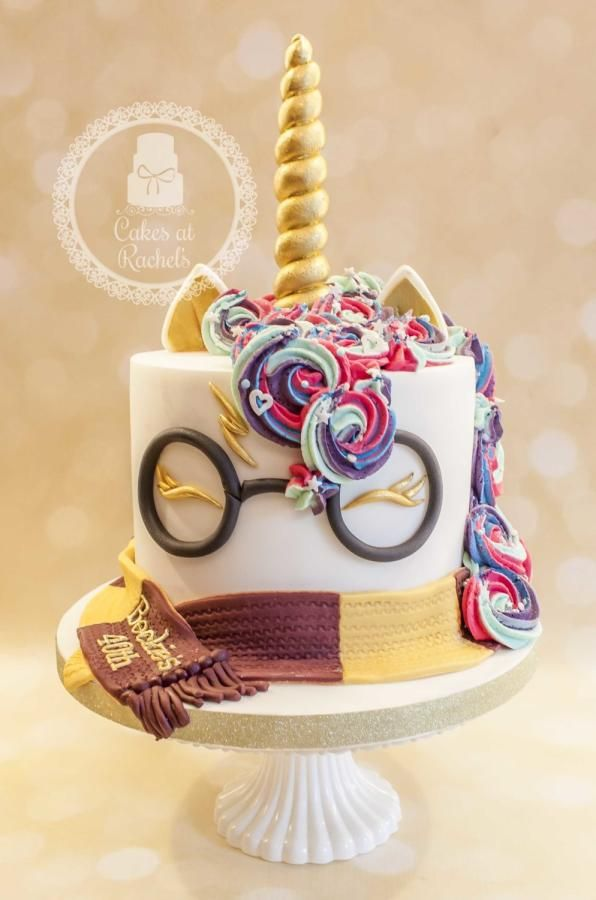 Harry Potter Unicorn Cake - Cake by Rachel