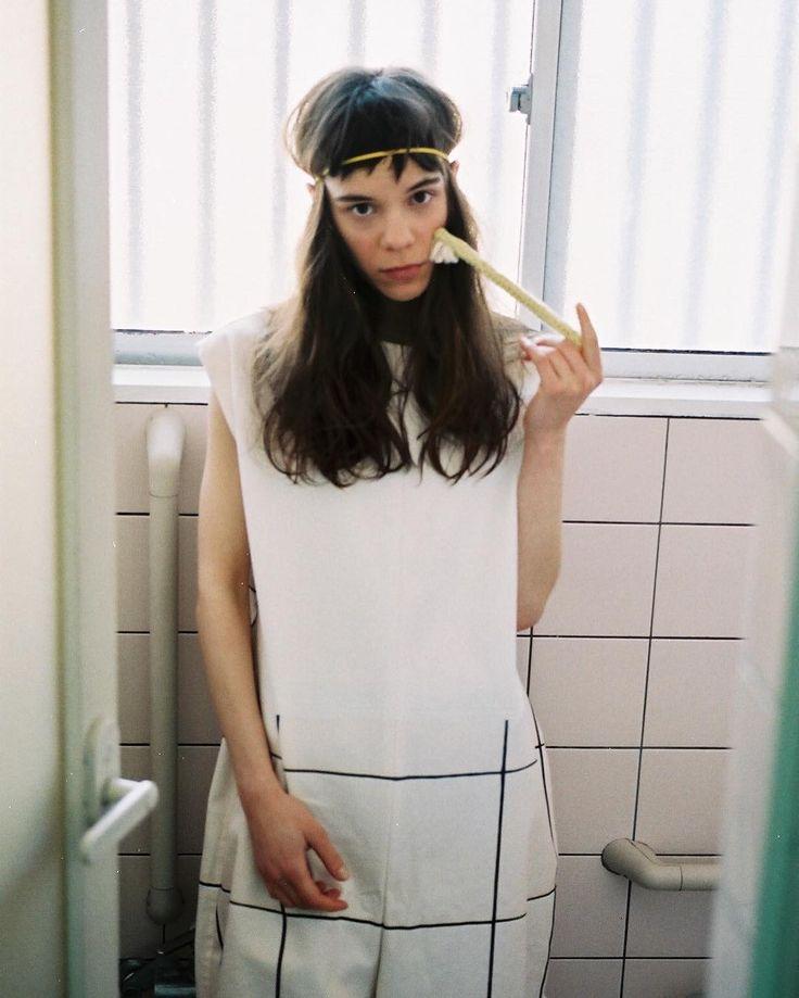 clipped out clothes(2014) ぬけおちた服をテーマに製作したエスモードの卒業コレクションですお風呂場です#pitecanthropus #esmodjapon #tokyofashion  #fashion #collection #tokyonewage by pitecan_ouhashi