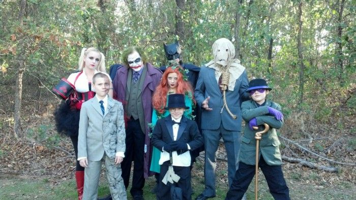 Halloween costumes and family celebration