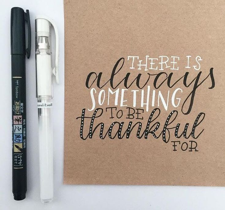 Letter Lovers beyzacreates - Lettering Spruch: there is always something to be thankful for