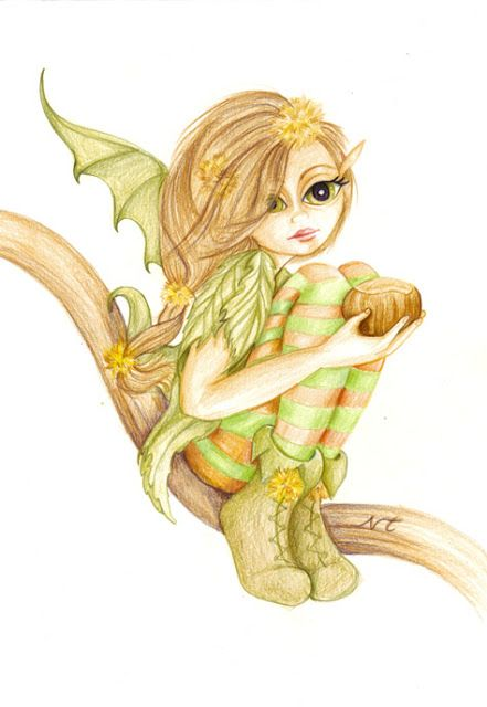 365ilustraciones: Hada del castaño (Chestnut´s fairy)