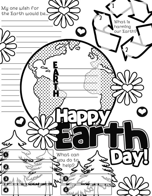 Another FUN FREEBIE. Earth Day Graphic Organizer Activity Poster