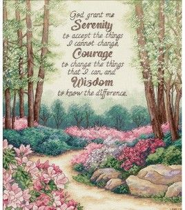 Dimensions Gold Collection Serenity, Courage, & Wisdom Cntd X-Stitch Kit : counted cross stitch kits : cross stitch : needle arts : Shop | Joann.com