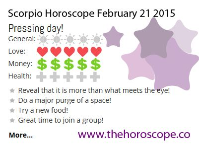 Pressing day for #Scorpio on Feb 21st #horoscope ... http://www.thehoroscope.co/horoscope/Scorpio-Horoscope-today-February-21-2015-2329.html