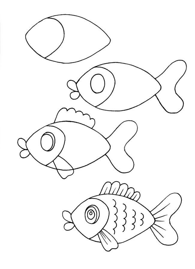 Vis Tekenen Met Kleuters Onderwaterwereld Pinterest