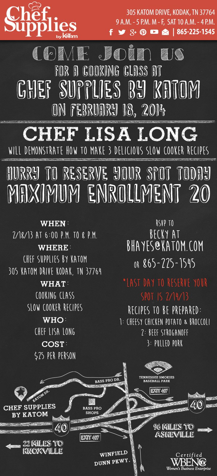 Chef Supplies by KaTom presents Chef Lisa Long!