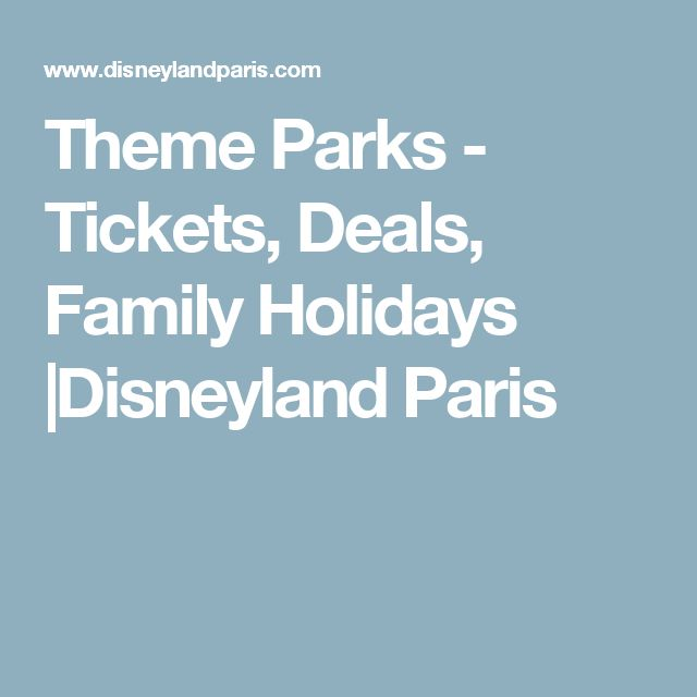 Theme Parks - Tickets, Deals, Family Holidays |Disneyland Paris