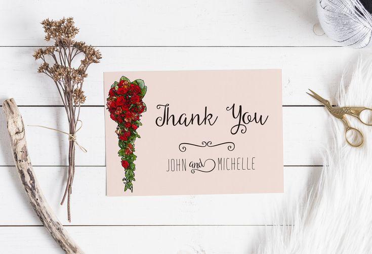 """""""Ich wollte dir nur danke sagen"""" - dafür, dass es dich gibt. Du bist einfach #paarfekt für mich. #liebe #schreiben #danke #karte #print #blumen #rose #valentinstag #etsy #2018 #etsyde #einzigartig #handgefertigt #lieblingsmensch"""