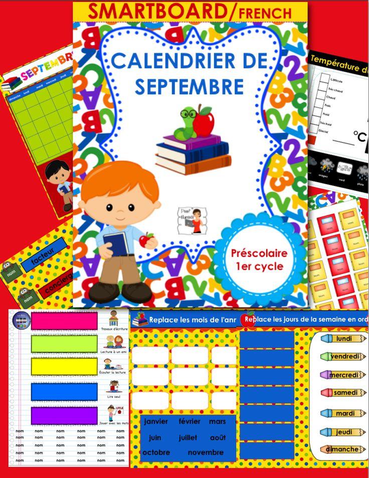 Utilisez ce fichier interactif tout au long du mois pour prendre les présences de vos élèves, faire le calendrier et la température à tous les matins, écrire des messages personnalisés ainsi que les responsabilités des élèves pour le mois courant.