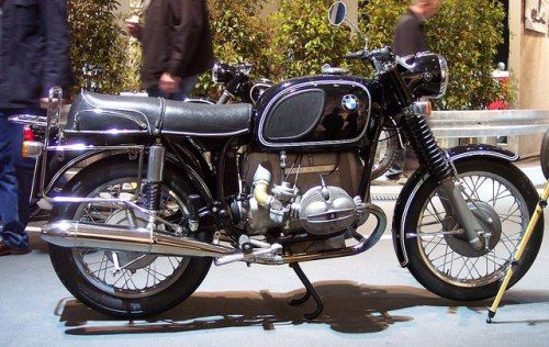 These old BMW motorcycles are real classics
