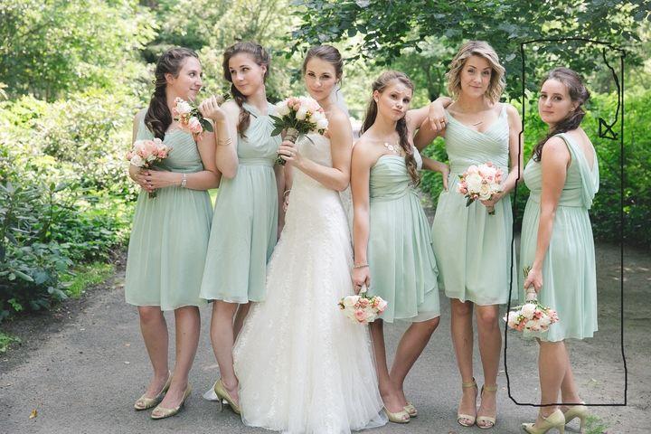 Meadow Chiffon David's Bridal Modern Bridesmaid/Mob Dress