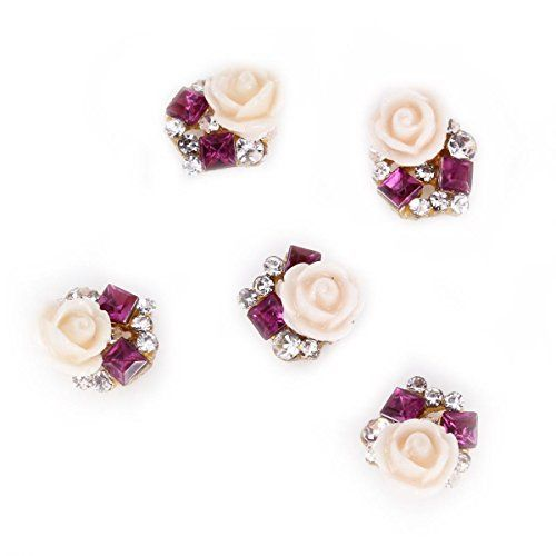 Rain Queen 3D Nail Art Acrylic Rose Flower Glitters Charms for DIY Decorations Purple Rhinestones Pack of 5pcs RAIN QUEEN http://www.amazon.com/dp/B00YGWLOJE/ref=cm_sw_r_pi_dp_GSElwb0S6ZN8A