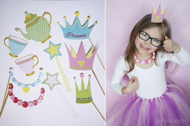 Princesių bei fėjų fotosesijos rekvizitai | Šventės idėja Princess photo props and photo booth