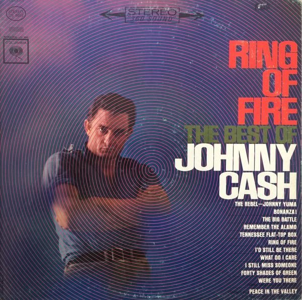 Johnny Cash Ring Of Fire The Best Of Johnny Cash 1963 Vinyl LP Record Album Record: Very Good (VG) Sleeve: Very Good (VG)