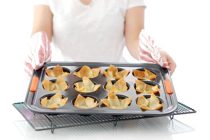 Cómo hacer tartaletas de masa Filo. Saben mucho mejor que cualquier tartaleta comprada y además son deliciosas y muy crujientes.