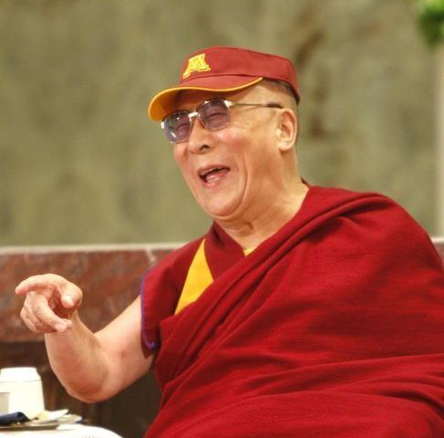 Dalai Lama rockin' the maroon & gold  https://www.facebook.com/#!/photo.php?fbid=10150775721147943=a.373872337942.159805.6129582942=3