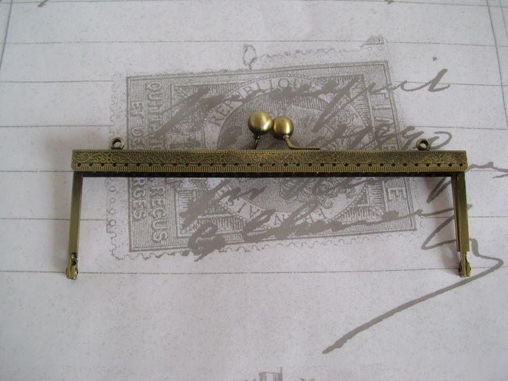 Taschenbügel Messing 20,5cm x 6,5cm ,Taschenrahmen von Leinen-Traum auf DaWanda.com