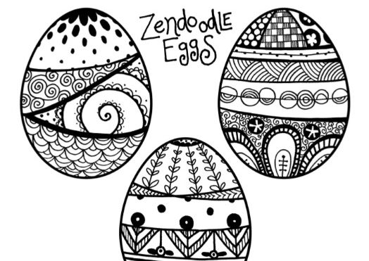 Nothing wrong with infusing a little relaxation into this sugar-filled holiday in the form of Zendoodle easter egg coloring pages!