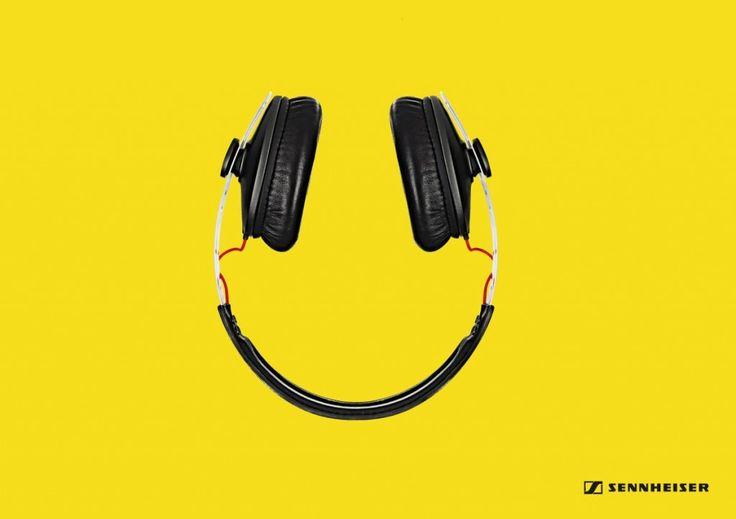 Sennheiser Headphones Smiley | http://www.gutewerbung.net/sennheiser-headphones-smiley/ #Advertising