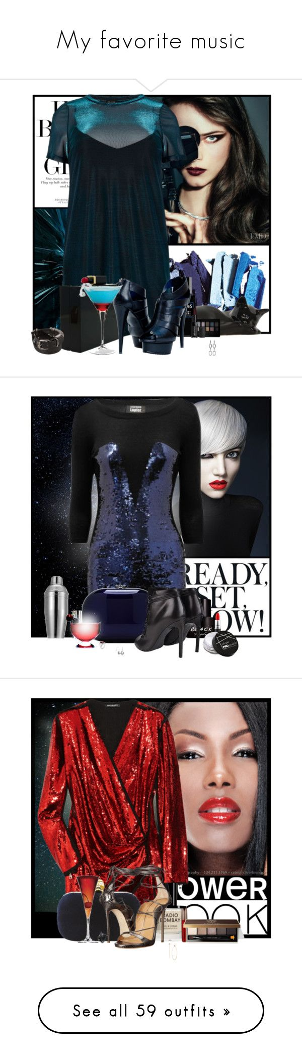 """My favorite music"" by pusja76 ❤ liked on Polyvore featuring River Island, Lulu Guinness, Maybelline, Robert Piguet, Paolo Shoes, e.l.f., Alexander Wang, Ann Demeulemeester, Jeffrey Levinson and Kenneth Cole"