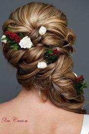 Fonott menyasszonyi frizura 12 , Bridal hair braids 12 www.elstile.ru