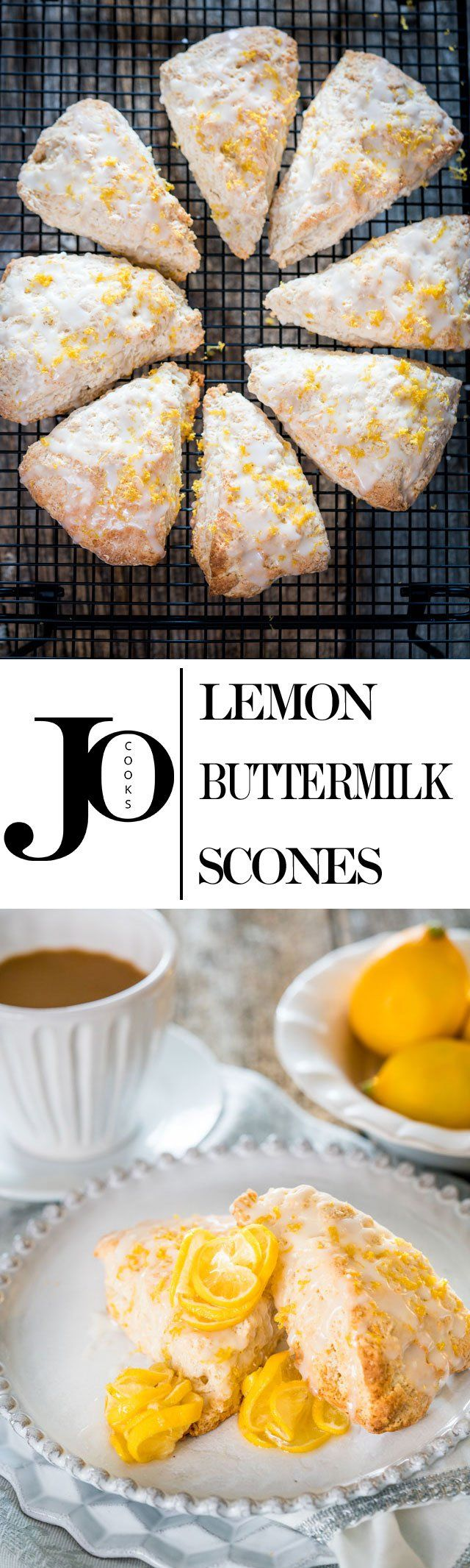 These lemon buttermilk scones are light and fluffy are bursting with lemon flavor, then drizzled with the most incredible tangy lemon glaze.