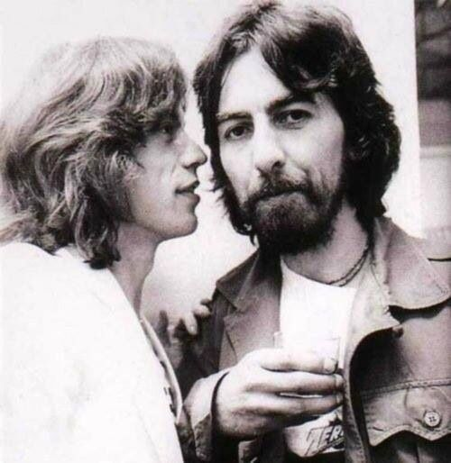 Mick Jagger & George Harrison
