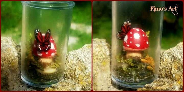 """Butterfly in the bottle"" by  Fimo's Art  https://www.facebook.com/profile.php?id=1422761874603357&ref=ts&fref=ts"