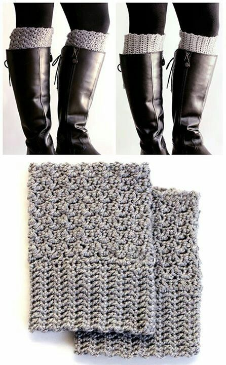 How To Make Easy Reversible Crochet Boot Cuffs... Free Pattern: http://www.ourhomesweethome.org/how-to-make-easy-reversible-crochet-boot-cuffs/