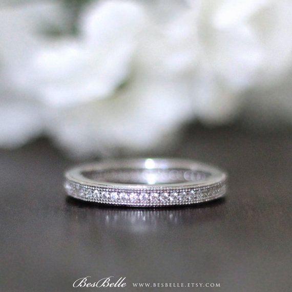 25 mm Ewigkeit Ring-07 ct.tw brillante Micro Pave von Besbelle