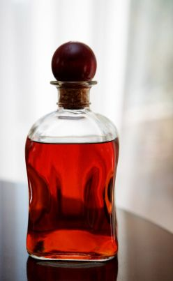 Cherry Bounce  1 ½ quarts (6 cups) whole cherries (sour cherries work best, but any mix of fresh cherries will work)  1 quart rye whiskey  2 cups cane sugar (if using non-sour cherries, reduce to 1 cup of sugar and add 2 ounces of fresh lemon juice)