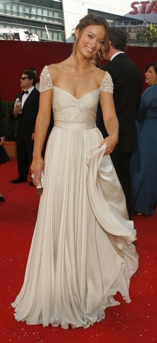 Red Carpet: Olivia Wilde in Reem Acra Haute Couture at the Emmy Awards, 2008.
